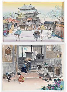 Two Shin-hanga Japanese Woodblock Prints
