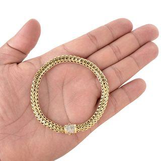 John Hardy 18K and Diamond Bracelet