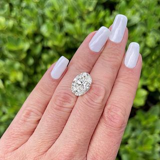 GIA 8.06 Carat Oval Cut Diamond
