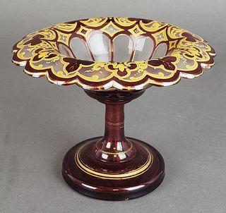 Bohemian Glass Candy Dish