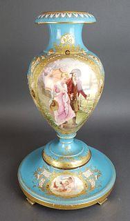 Large Royal Vienna Porcelain Vase on Base