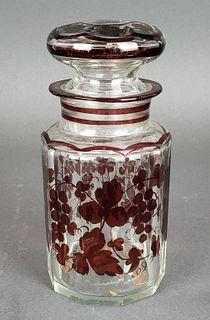 French Glass Tea Jar