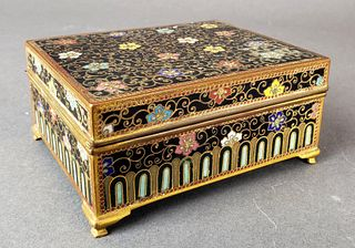 Chinese Enamel Jewelry Box