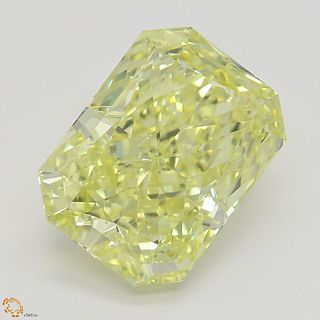 3.17 ct, Natural Fancy Intense Yellow Even Color, SI1, Radiant cut Diamond (GIA Graded), Appraised Value: $116,000