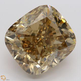 8.01 ct, Natural Fancy Dark Orange Brown Even Color, SI1, Cushion cut Diamond (GIA Graded), Appraised Value: $84,800