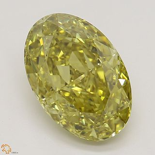 2.01 ct, Natural Fancy Deep Brownish Greenish Yellow Even Color, VVS2, Oval cut Diamond (GIA Graded), Appraised Value: $59,800