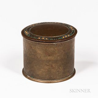 Tiffany Furnaces Enameled Cigarette Box