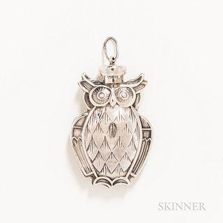 Tiffany & Company Owl Perfume Dauber Charm