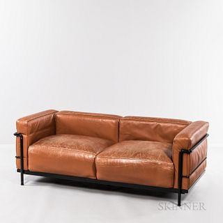 Le Corbusier by Cassina LC3 Divano Sofa with Nero Frame