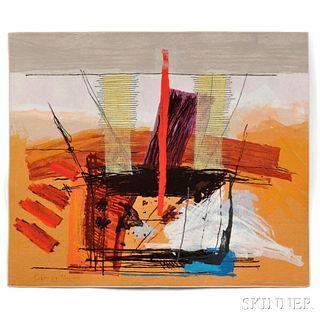 Calman Shemi (Argentinian/Israeli, b. 1939) The Golden Altar Textile Art