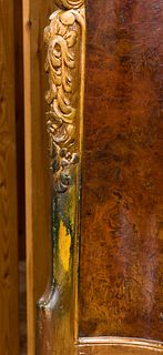Marquetry and Gilt Wood Bed