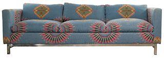 MCM Chrome Upholstered Sofa