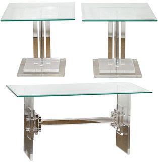 Skyscraper Style Lucite Tables