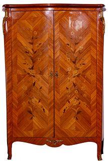 Inlaid Wood Veneer Wardrobe
