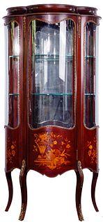 Mahogany with Satinwood Inlay Display Cabinet