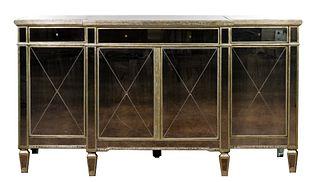Zhong Shun Wood Art Co. Hollywood Regency Style Mirrored Sideboard