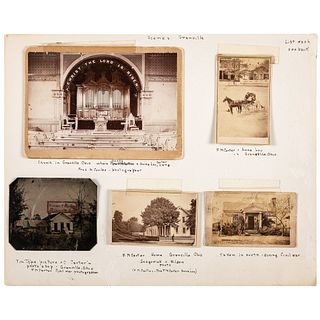 [CIVIL WAR]. Archive of photographs and ephemera related to Civil War photographer F.M. Carter