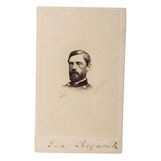 [CIVIL WAR]. CDV of Union General John R. Reynolds. Philadelphia: J.E. McClees, [1860s].