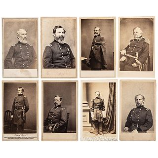 [CIVIL WAR] -- [ARMY OF POTOMAC]. A group of 15 CDVs of Union generals, incl. McClellan, McCall, and Burnside.