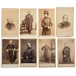 [CIVIL WAR]. A group of 16 CDVs of Union generals, incl. Anderson, Gilmore, Ricketts, and Stevenson, KIA Spotsylvania Courthouse.