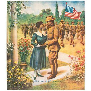 [WORLD WAR I]. Colored Man is No Slacker. Chicago: E.G. Renesch, 1918.