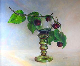 """""""Cherries Atop a Roemer"""" by Debra Keirce, Broadlands, Virginia"""