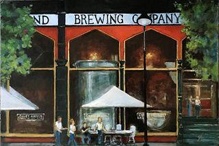 """Outside the Brewpub"" by Gary Hoff, Des Moines, Iowa"