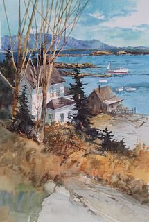 """""""Cundy's Harbor"""" by Robert  Steedman, AWS, PORTSMOUTH, NH"""