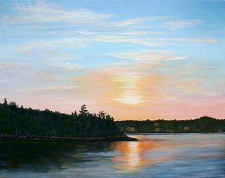 """""""Boothbay Sunset"""" by Kathleen Curran Smits, New Britain, CT"""