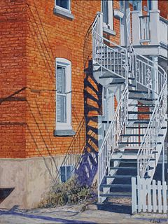 """""""Montreal Staircase"""" by Carol Loeb, Montreal, Quebec, Canada"""
