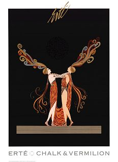 Kiss Of Fire, A Large ERTE Lithograph Poster, 1994