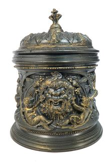 A Pewter Figural Candy Dish