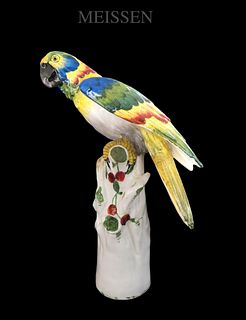 The Parrot, A German Meissen Figurine