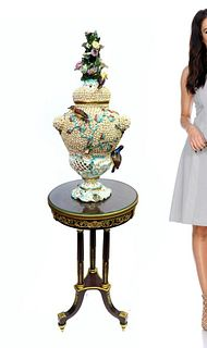 19th C. Meissen Style Snowball Schneeballen Vase