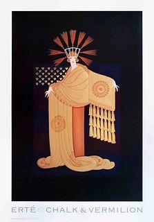 Tassel Gown, Vintage ERTE Lithograph Poster, 1993
