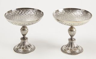 Fine Pair of Sterling Compotes - Crighton Bros