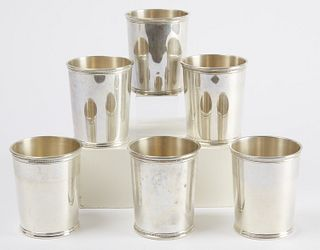 6 Sterling Mint Julep Cups