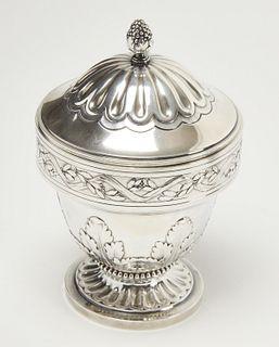 Antique French Silver Sugar Bowl w/Lid