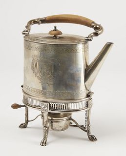 Early Silver Coffee Pot on Stand Philip Oriel