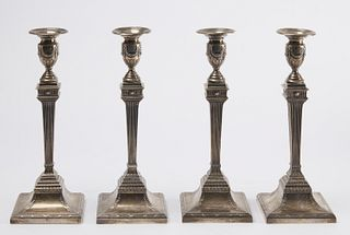 Cartier Fine Set of 4 Sterling Candlesticks