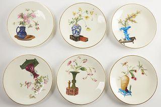 6 Mintons Porcelain Cabinet Plates