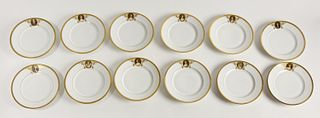 12 ROYAL VIENNA Porcelain Plates Red Beehive signe