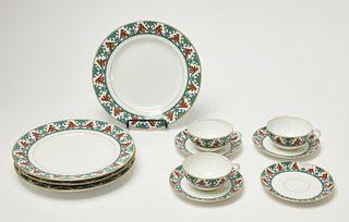 Russian Kornilov Bros Porcelain Tea Set