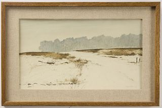 Watercolor on Paper by H. Reynolds Thomas