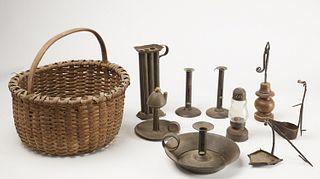 Lot of Early Lighting - Splint Basket