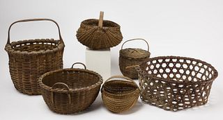 Good lot of 6 Early Baskets