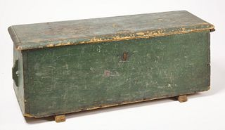 Early Painted Canted Sea Chest