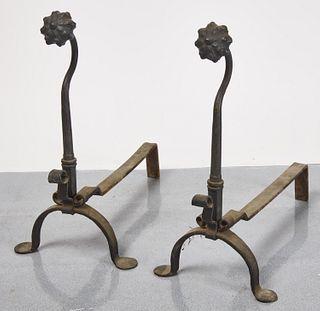 Early Iron Andirons