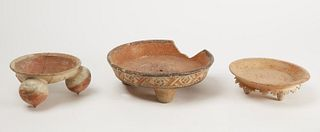 Three Pre-Columbian Pottery Bowls