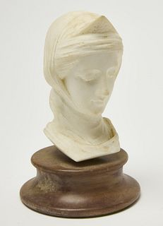 Marble female head